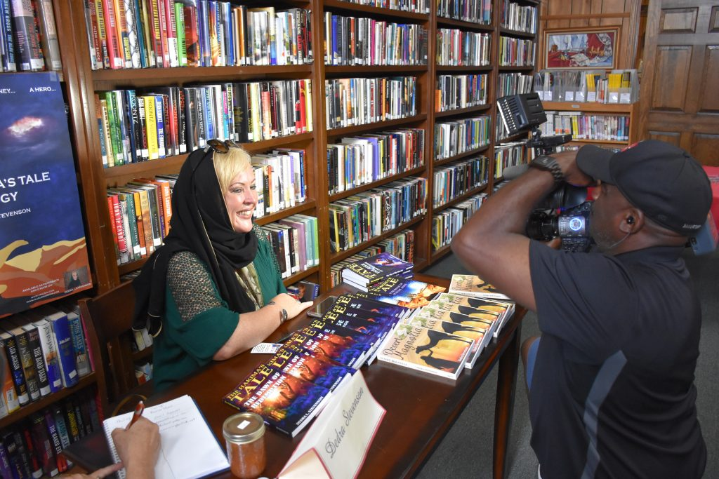 Dedra at Book Signing